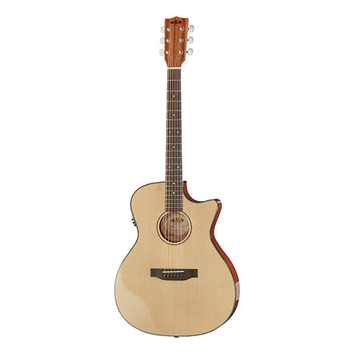 Kala Thinline Spruce Steel Cutaway Electro Acoustic Guitar - Natural high Gloss