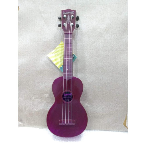 Kala Waterman SWF-PL Soprano Fluorescent Purple Grape Ukulele - Open Box B Stock