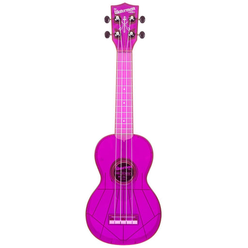 Kala Waterman SWF-PL Soprano Fluorescent Purple Grape Ukulele