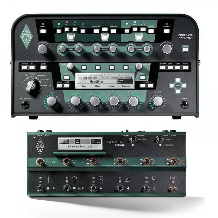 Kemper Profiler Series Multi-Effects Guitar Amplifier Head with Remote
