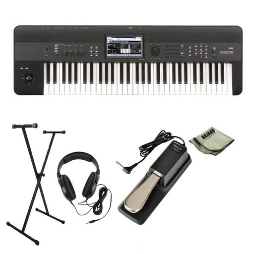 Korg Krome 61-Key Synthesizer Workstation Pro Bundle