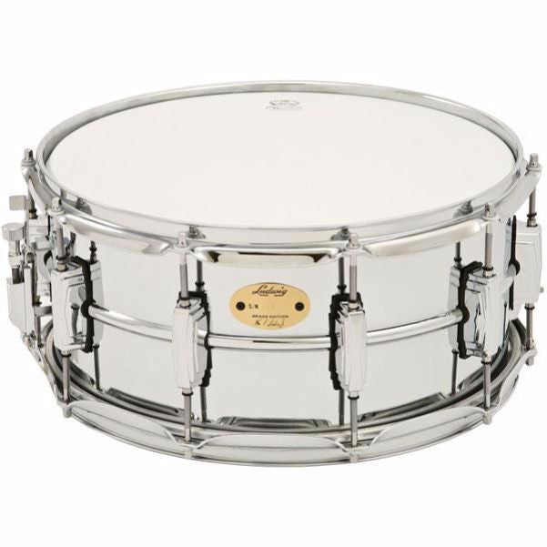 "LB402B 6.5X14"" Chrome Plated Brass Shell Snare Drum"