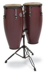 Latin Percussion City Congas with Stand Dark Wood Finish