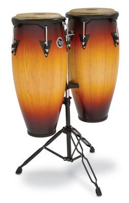 Latin Percussion City Congas with Stand Vintage Sunburst