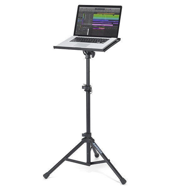 Samson LTS50 laptop stand for live performance