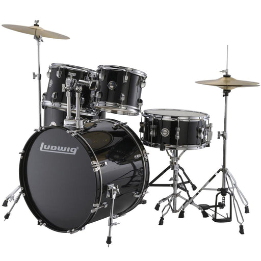 Ludwig Accent Drive 5 Piece Acoustic Drum Kit With Hardware & Cymbals
