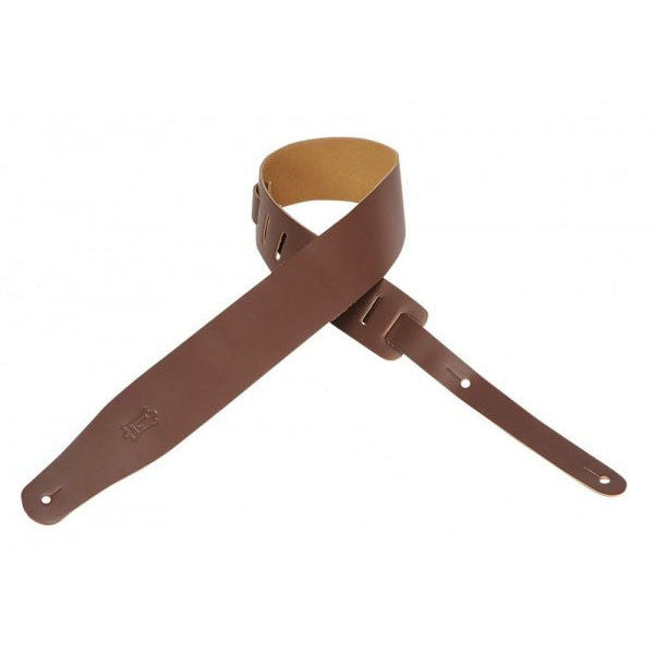 "Levys M26-BRN  Leather 2.5"" Brown Guitar Strap"