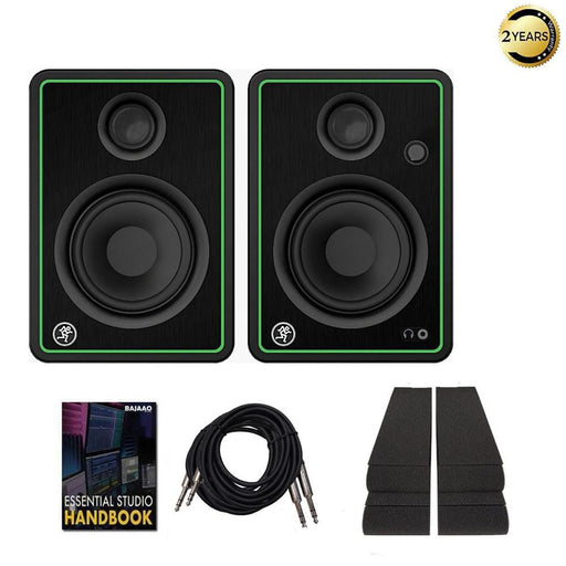 Mackie CR4 X Class D Studio Multimedia Monitor Speakers with Isolation Foam Pads, Cables & Ebook - Pair