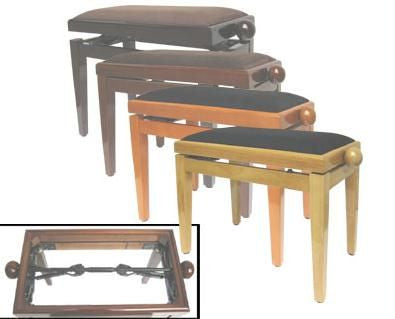 Magnum Piano Bench Double - Wild Cherry Gloss Finish