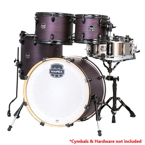 Mapex AR504S Armory Series 5 Pcs Black Plated Fusion Shell Pack - Purple Haze