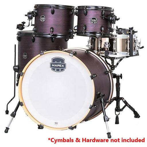 Mapex AR529S Armory Series 5 Pcs Black Plated Hybrid Shell Pack - Purple Haze