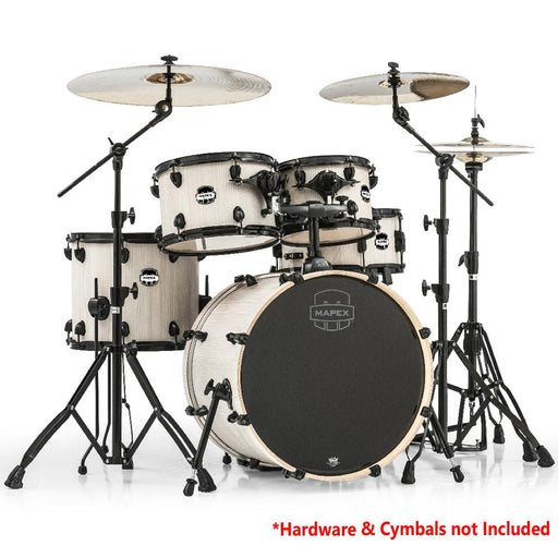 Mapex Mars Series 5 pcs Jazz Shell Pack with Black Fittings Drum Set - Bonewood