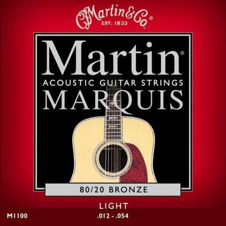 Martin M1100 Acoustic Guitar Strings - 80/20, Bronze Light