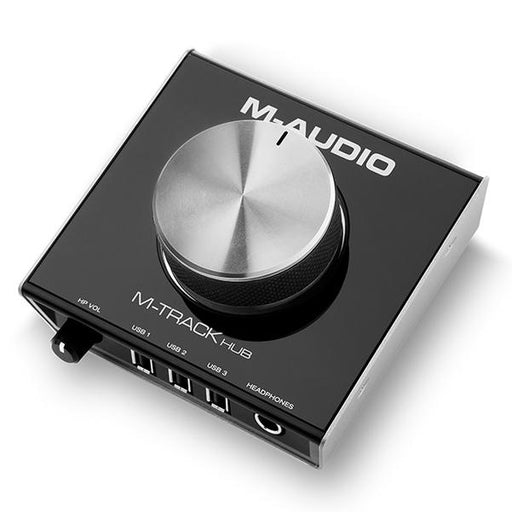 M-Audio M-Track Hub USB Audio Interface with Built-In 3-Port Hub