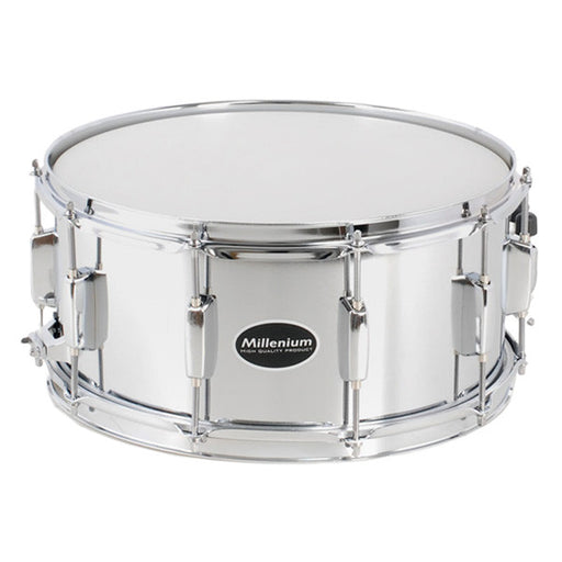 Millenium 14 x 6.5-inch Power Steel Snare Drum - Silver