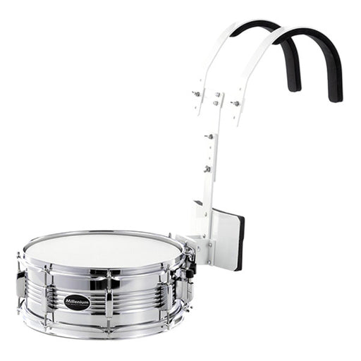 Millenium MD124C Marching Snare Set - Silver