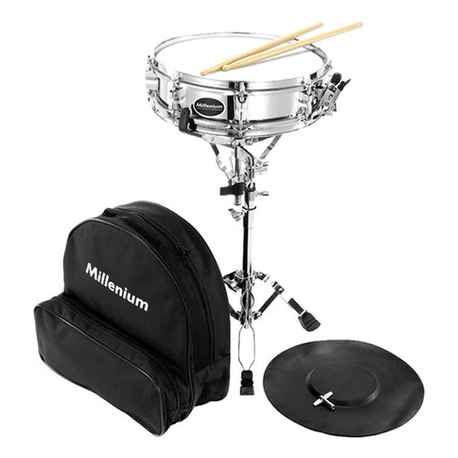 Millenium SD-17 Snare Drum Starter Kit - Chrome
