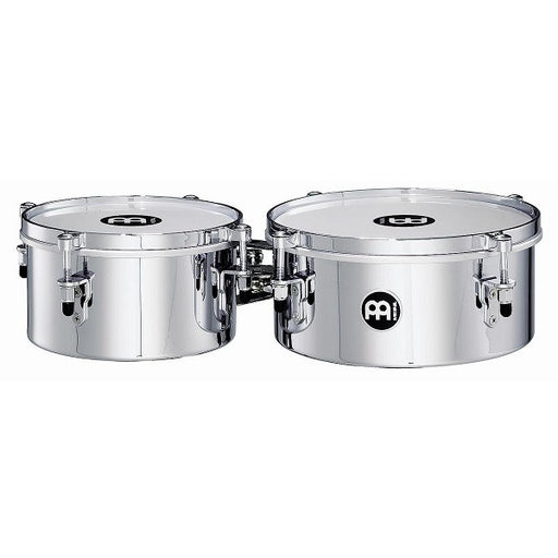 Meinl Percussion MIT810CH 8Inch and 10Inch Mini Timbales Chrome Finish