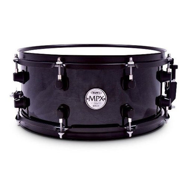 "Mapex 13"" x 6"" Birch Snare Drum with Black Fitting -Trans Midnight Black MPBC3600BMB"