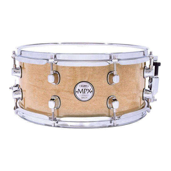 "Mapex 13"" x 6"" Birch Snare Drum with Chrome Fitting - Gloss Nat MPBC3600CXN"