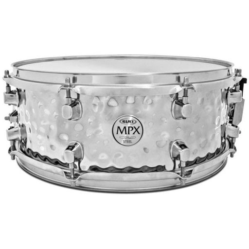 "Mapex MPX MPST4558H 14 x 5.5"" Hammered Steel Chrome Snare"