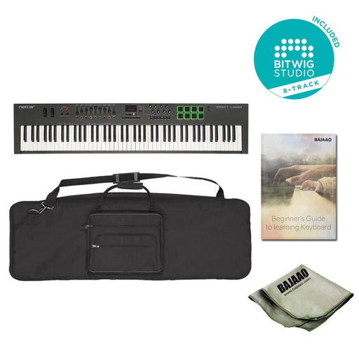 Nektar Impact LX88+ 88-key Midi Keyboard with Gigbag, Polishing Cloth, Ebook & Btwig Software