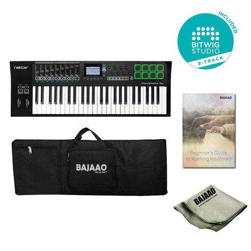 Nektar Panorama T4 49-Key Midi Keyboard Controller With Btwig Software, Cloth, Gigbag & Ebook