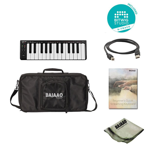 Nektar SE25 25-Key USB Mini MIDI Keyboard With Bitwig Software,Cloth,Gigbag & Ebook