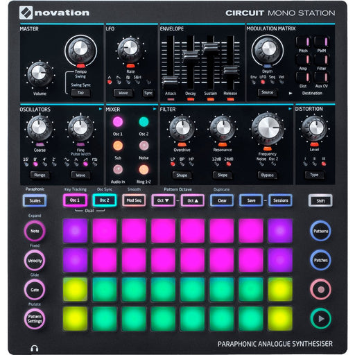 Novation Circuit Mono Station Sequenced Paraphonic Analogue Synthesizer