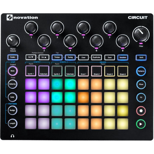 Novation Circuit Groovebox Portable 4 x 8 Pad Matrix Synthesizer
