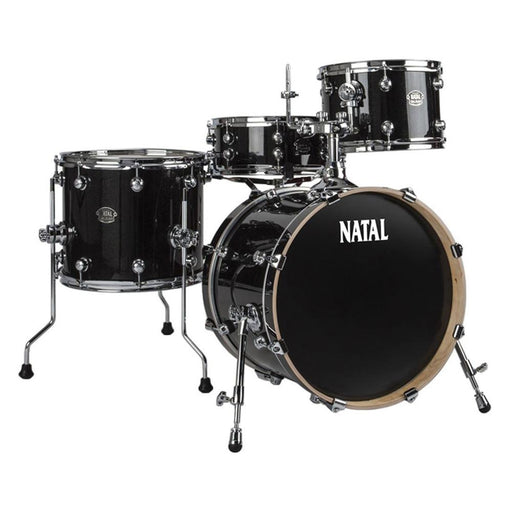 Natal KAR-U24 Arcadia Series US Rock 4-Piece Shell Pack Acoustic Drum Kit with Hardware & Stands - Black Sparkle