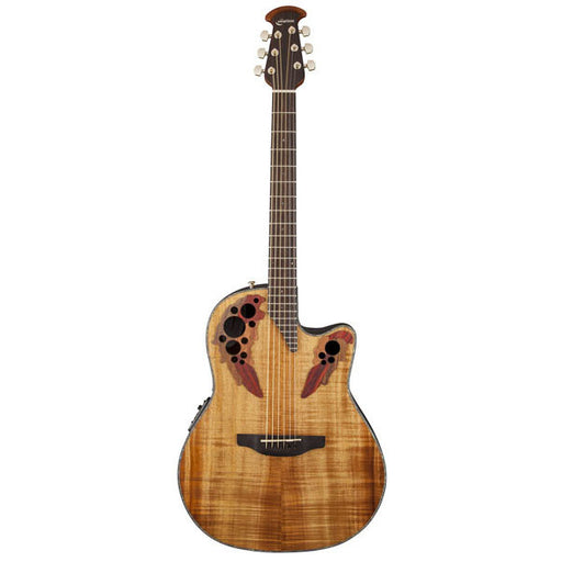 Ovation CE44P-FKOA Celebrity Elite Plus Mid-Depth Cutaway Acoustic-Electric Guitar - Figured Koa