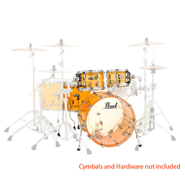 Pearl Crystal Beat 4 Piece Shell Pack Drum Kit - Tangerine Glass