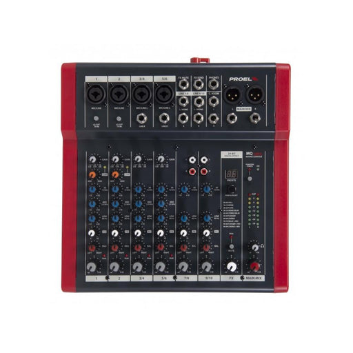Proel MQ10FX Compact 10 Channel Analog Mixer with FX