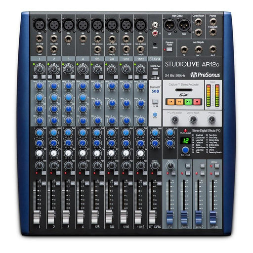 PreSonus StudioLive AR12c USB-C 14 Channel Hybrid Performance and Recording Mixer Audio Interface