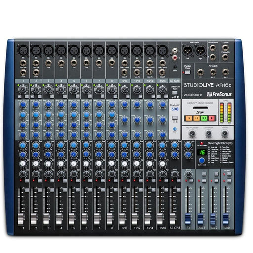 PreSonus StudioLive AR16c USB-C 18-Channel Hybrid Performance and Recording Mixer Audio Interface