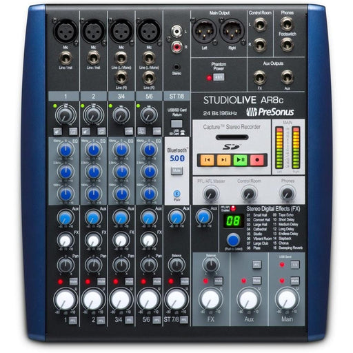 PreSonus StudioLive AR8c USB Type-C 8-Channel Hybrid Performance and Recording Mixer Audio Interface-1