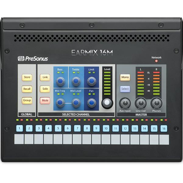 Presonus EarMix 16M 16x2 AVB-Networked Personal Monitor Digital Mixer