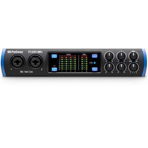 PreSonus Studio 68 c Portable Ultra-High Definition Usb C Audio Interface with Full Version Studio One Artist