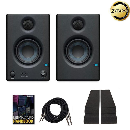 Presonus Eris 3.5 Active Studio Monitor Speakers with Isolation Pads, Cables and Ebook - Pair