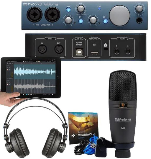 PreSonus AudioBox iTwo Studio Audio Interface Bundle