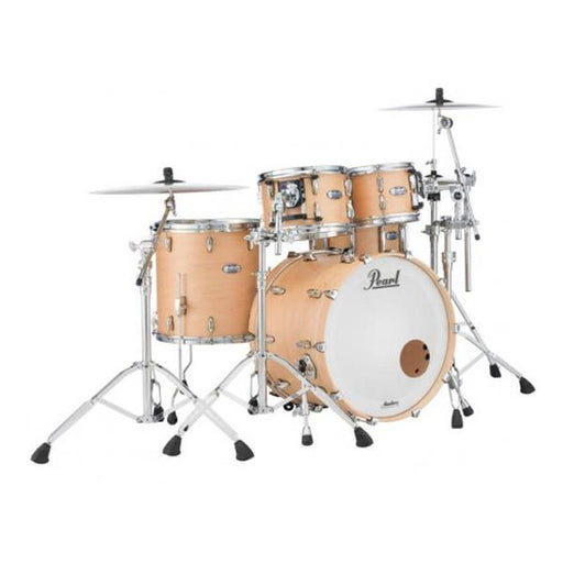 Pearl Masters Maple Complete 4pcs Hybrid Shell Pack Drumset - Matte Natural