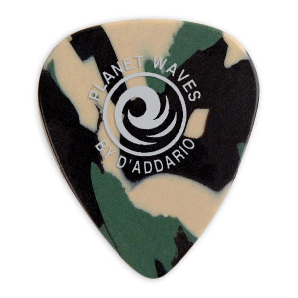 Planet Waves 1CCF4 Camouflage Celluloid Guitar Picks Medium - Pack of 10