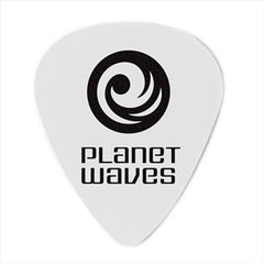 Planet Waves 1CWH2 White /Light Celluloid Standard Guitar Pick,10-Pack