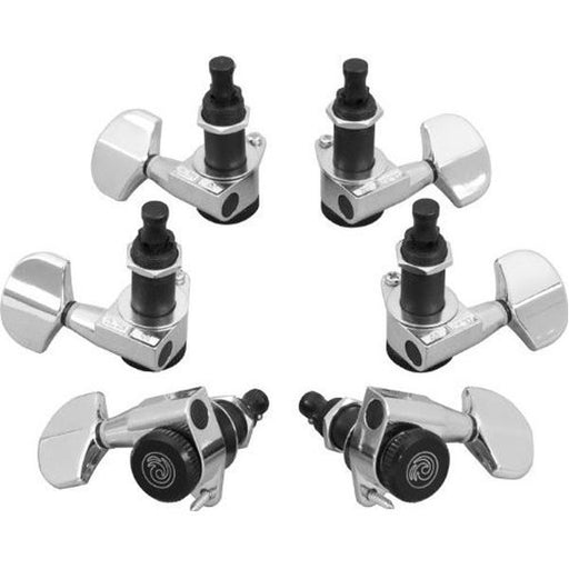 Planet Waves Auto Trim Guitar Locking Tuners 3+3 (Chrome)