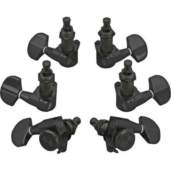 Planet Waves Auto Trim Guitar Locking Tuners 3+3 (Black)