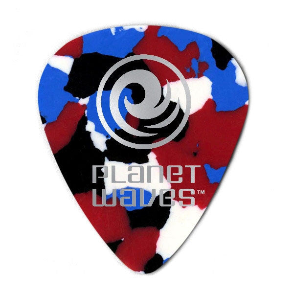 Planet Waves Celluloid Standard Multi Coloured 1.0mm Guitar Picks 1CMC6 (Pack of 10)