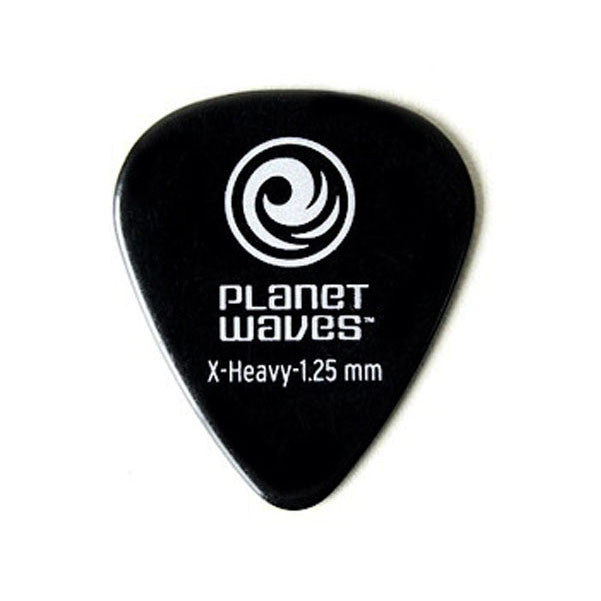 Planet Waves Extra Heavy Celluloid Black Guitar Pick (1CBK7-10)