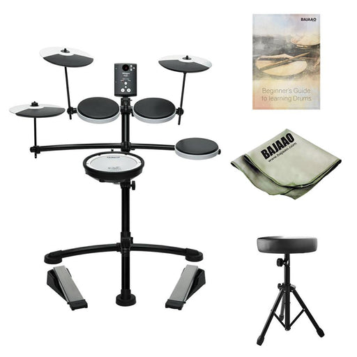 Roland TD-1KV V-Drums Electronic Drumkit With Drum Throne, Polishing Cloth & Ebook