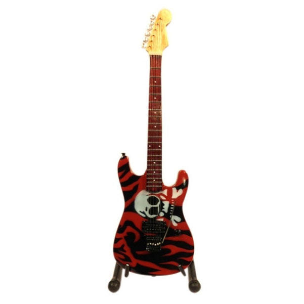 Red Skull Miniature Guitar Showpiece